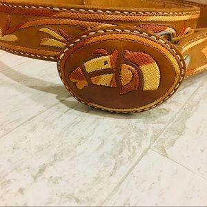 Leather Cowboy Belt Size XL 38-42 Richard